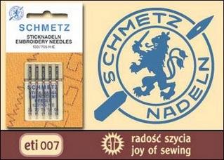 Иглы SCHMETZ для вышивки